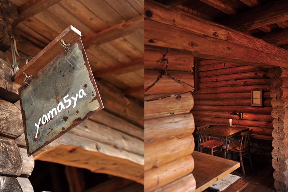 (右)ヤマゴヤ看板(左)ヤマゴヤ店内