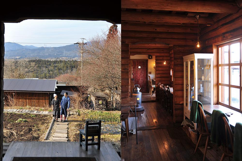 (右)山下さんと畑(左)ヤマゴヤカウンター席