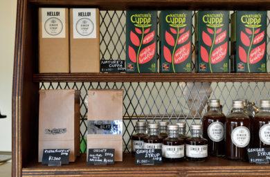 ブリッツコーヒー_コーヒー豆と紅茶
