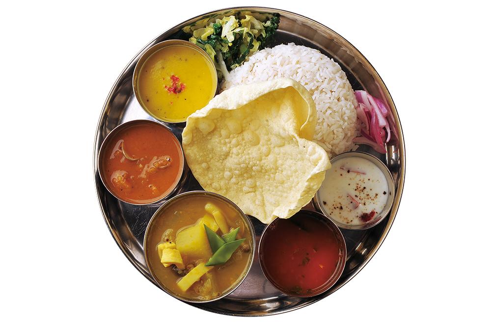 南インド風やさいカレー定食