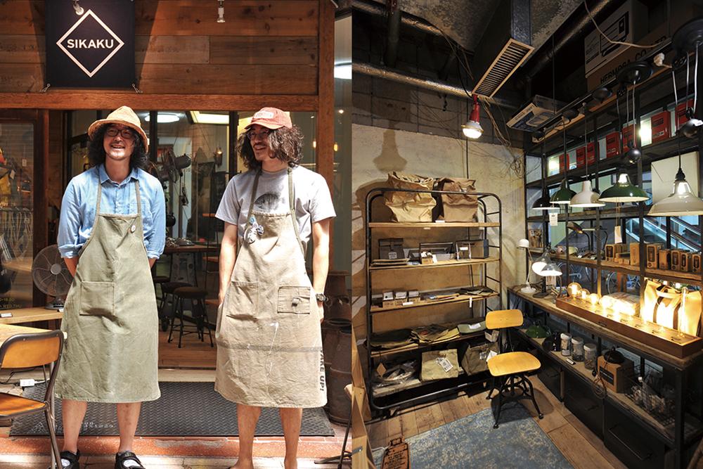 (右)オーナーと店長(左)四角商店店内縦