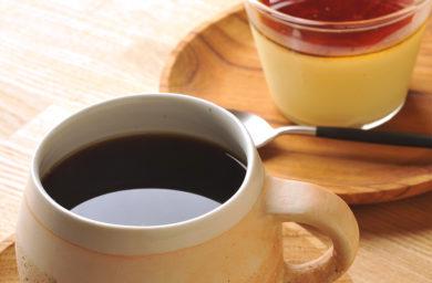 旅人の木のコーヒーとプリン