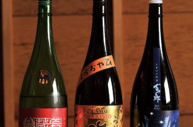 日本酒瓶3本