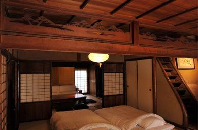 鵜飼楽屋の寝室
