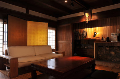 鵜飼楽屋の和室