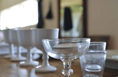 ル ドゥ ドワに並ぶガラス雑貨