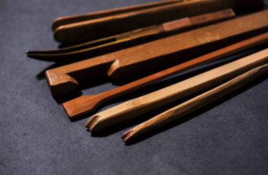 和傘作りの道具