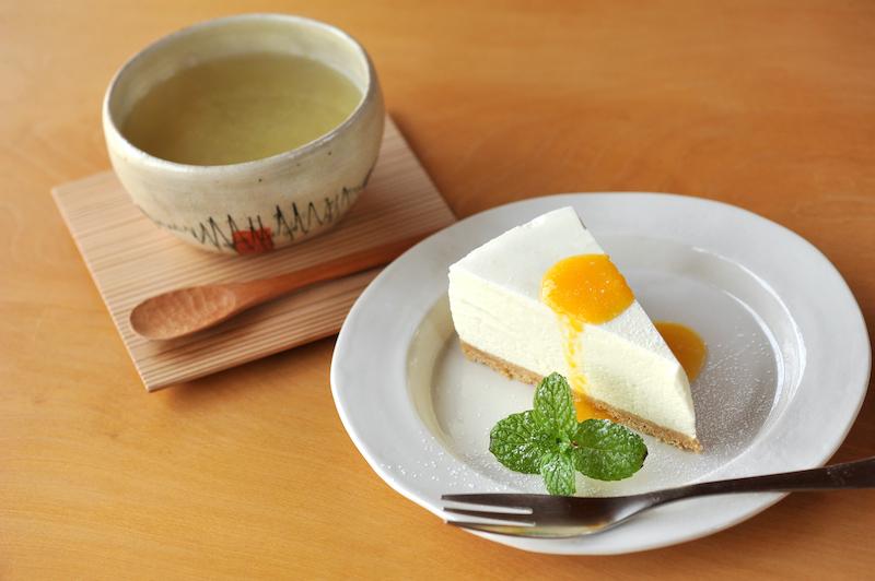 結_柚子はちみつとレアチーズケーキ