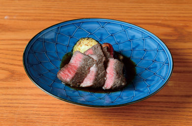 飛騨みなと牛のステーキ