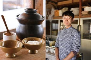 村上雄一さんと炊飯器と茶碗