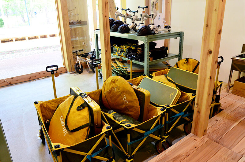 カカミガハラパークブリッジ遊び創造laboにあるレンタル遊具